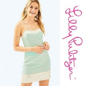 🆕️ Lilly Pulitzer Remi Turquoise & Silver Dress